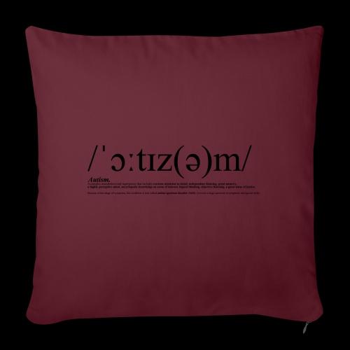 AUTISM BLACK - Sofa pillowcase 17,3'' x 17,3'' (45 x 45 cm)