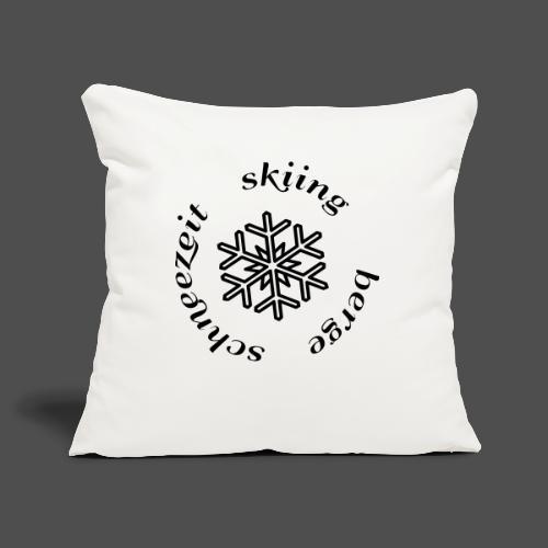 śnieg na nartach - Poszewka na poduszkę 45 x 45 cm