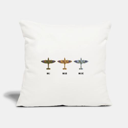 Spitfire fighter plane / camouflage pattern - Sofa pillowcase 17,3'' x 17,3'' (45 x 45 cm)