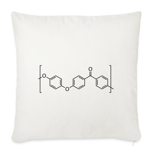 Polyetheretherketone (PEEK) molecule. - Sofa pillowcase 17,3'' x 17,3'' (45 x 45 cm)