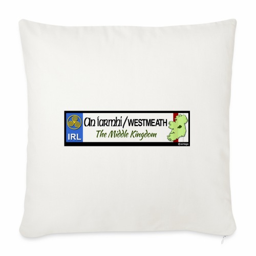 WESTMEATH, IRELAND: licence plate tag style decal - Sofa pillowcase 17,3'' x 17,3'' (45 x 45 cm)