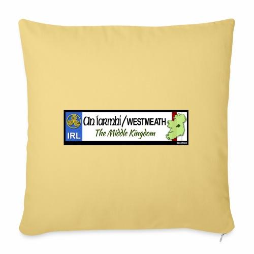 WESTMEATH, IRELAND: licence plate tag style decal - Sofa pillowcase 17,3'' x 17,3'' (45 x 45 cm)