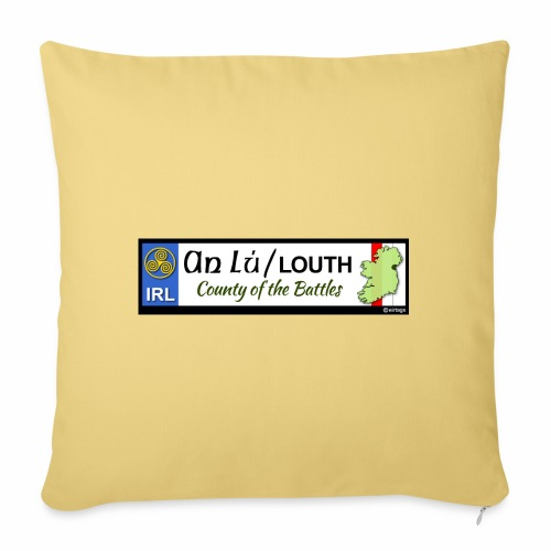 CO. LOUTH, IRELAND: licence plate tag style decal - Sofa pillowcase 17,3'' x 17,3'' (45 x 45 cm)