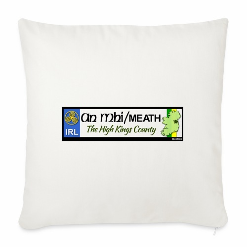 CO. MEATH, IRELAND: licence plate tag style decal - Sofa pillowcase 17,3'' x 17,3'' (45 x 45 cm)