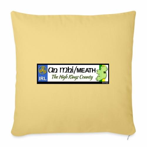 CO. MEATH, IRELAND: licence plate tag style decal - Sofa pillowcase 17,3'' x 17,3'' (45 x 45 cm)