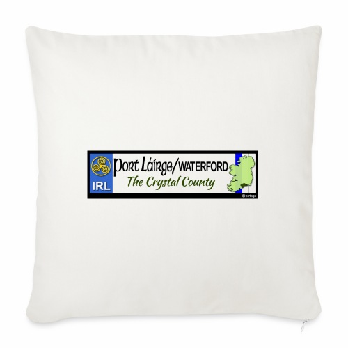 WATERFORD, IRELAND: licence plate tag style decal - Sofa pillowcase 17,3'' x 17,3'' (45 x 45 cm)