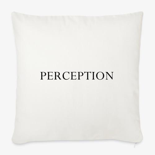PERCEPTION NOIR - Housse de coussin décorative 45x 45cm