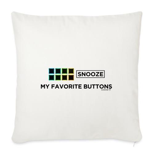 Snooze + Phantom Buttons // Kaskobi - Sofa pillowcase 17,3'' x 17,3'' (45 x 45 cm)