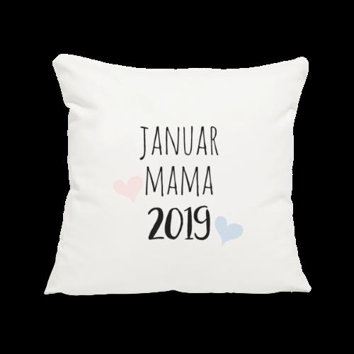 Januar Mama 2019 - Sofakissenbezug 44 x 44 cm