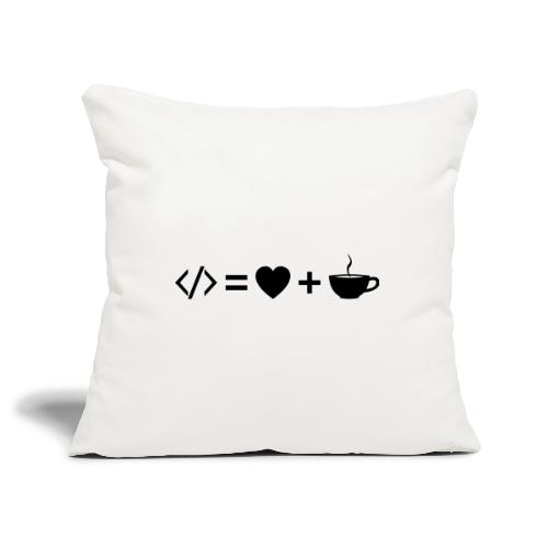 Code Equation - Dark - Sofa pillowcase 17,3'' x 17,3'' (45 x 45 cm)