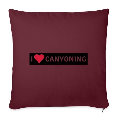 I Love Canyoning - Sofakissenbezug 44 x 44 cm