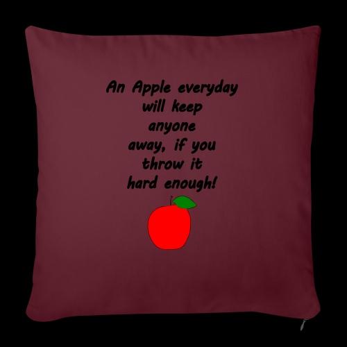 Apple Apfel Doctor Zitat Spruch Lustig - Sofakissenbezug 44 x 44 cm