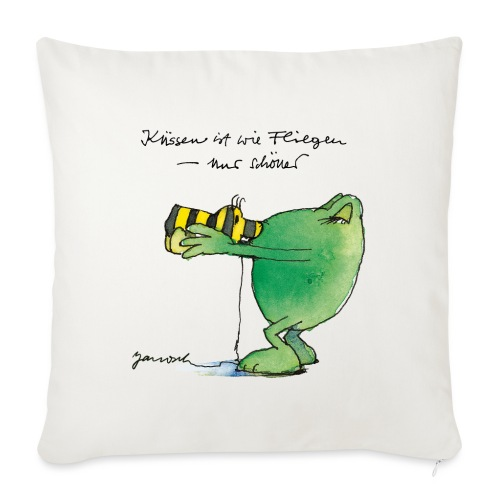 Janosch Frosch 'Küssen ist wie ...' - Sofakissenbezug 44 x 44 cm