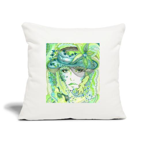 Tant Grön Kudde - Soffkuddsöverdrag, 45 x 45 cm