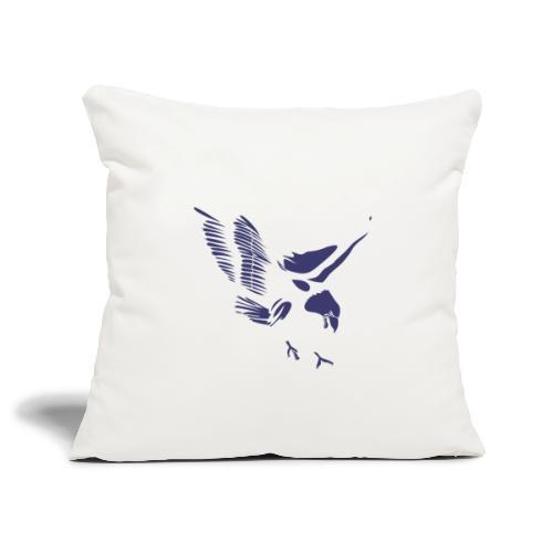 Aquila blu ed accessori - Copricuscino per divano, 45 x 45 cm