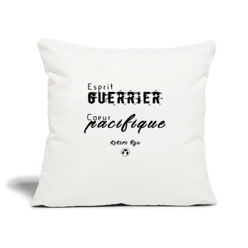 ESPRIT GUERRIER COEUR PACIFIQUE - Housse de coussin décorative 45x 45cm