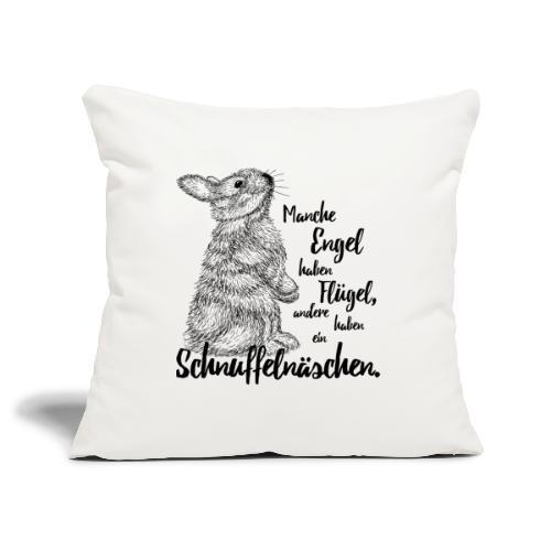 Kaninchen Hasen Zwergkaninchen Engel Liebe - Sofakissenbezug 44 x 44 cm