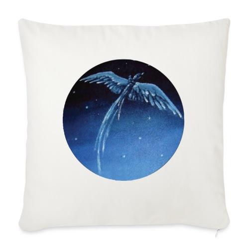 Oiseau Bleu 1 - Housse de coussin décorative 45x 45cm