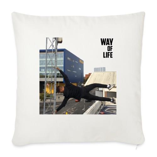 Way of life - Sofa pillowcase 17,3'' x 17,3'' (45 x 45 cm)