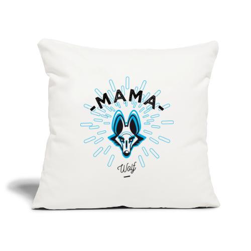 MAMA WOLF - Housse de coussin décorative 45x 45cm