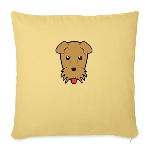 Shari the Airedale Terrier - Sofa pillowcase 17,3'' x 17,3'' (45 x 45 cm)