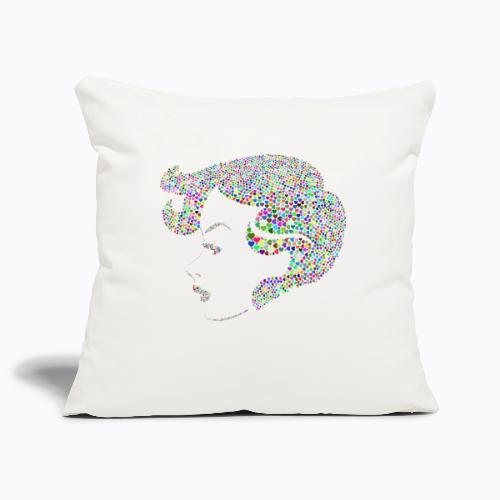 woman colorful - Sofa pillowcase 17,3'' x 17,3'' (45 x 45 cm)
