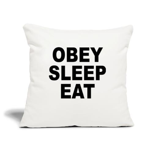 obey sleep - Housse de coussin décorative 45x 45cm
