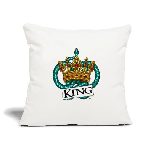 KING - Copricuscino per divano, 45 x 45 cm