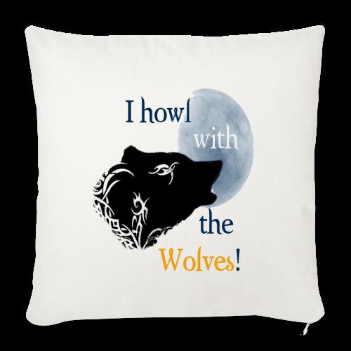 Wolf howl - Sofakissenbezug 44 x 44 cm