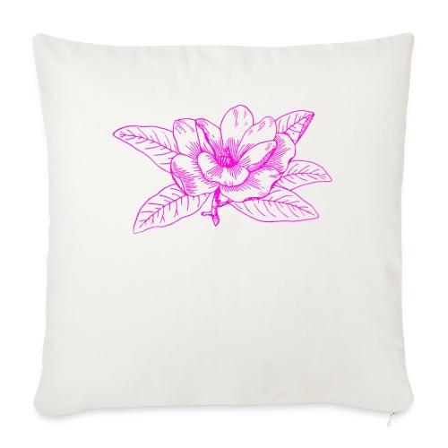 Camisetas y accesorios de flor color rosada - Funda de cojín, 45 x 45 cm