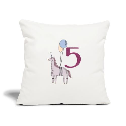 5 Jahre // Geburtstag T-Shirt zum 5. Geburtstag - Sofakissenbezug 44 x 44 cm