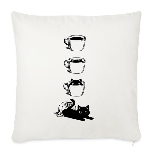 Süsse Katze in Kaffee Tasse - Sofakissenbezug 44 x 44 cm