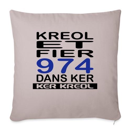 Kreol et Fier - 974 ker kreol - Housse de coussin décorative 45x 45cm