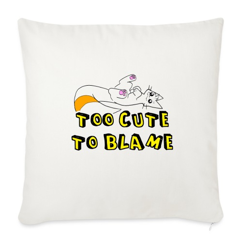 Too Cute To Blame - Sofa pillowcase 17,3'' x 17,3'' (45 x 45 cm)