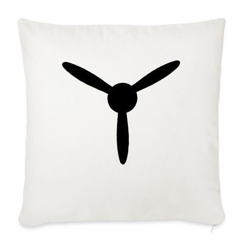 3 blade propeller 1 colour - Sofa pillowcase 17,3'' x 17,3'' (45 x 45 cm)
