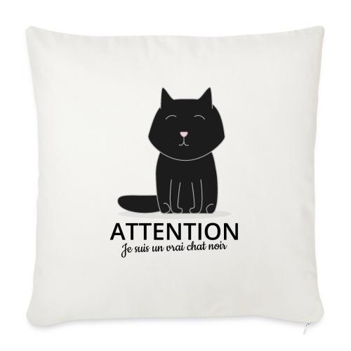 Chat noir - Housse de coussin décorative 45x 45cm