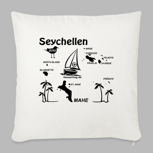 Seychellen Insel Crewshirt Mahe etc. - Sofakissenbezug 44 x 44 cm