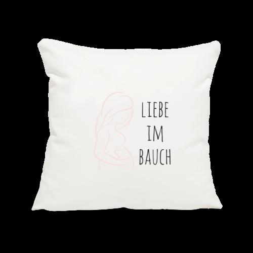 Liebe im Bauch - Sofakissenbezug 44 x 44 cm