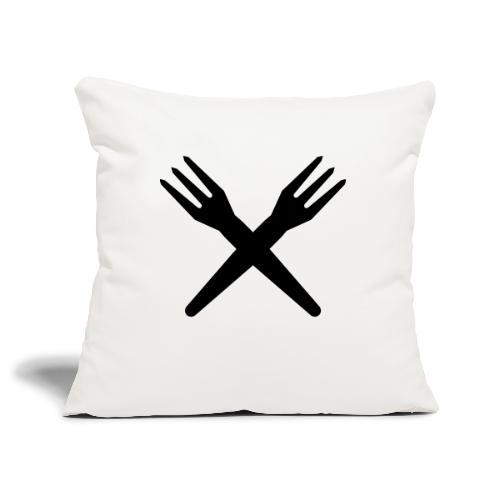 gekruiste frietvorken - trident - Housse de coussin décorative 45x 45cm