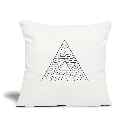 Triangle Maze - Sofa pillowcase 17,3'' x 17,3'' (45 x 45 cm)