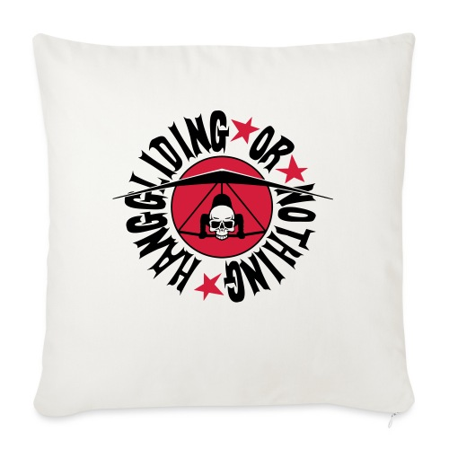 Hanggliding or nothing ! - Sofa pillowcase 17,3'' x 17,3'' (45 x 45 cm)