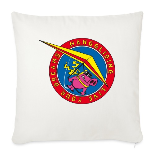 hanggliding pig - Sofa pillowcase 17,3'' x 17,3'' (45 x 45 cm)