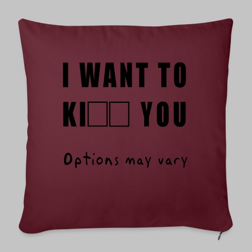 I want to - Sofa pillowcase 17,3'' x 17,3'' (45 x 45 cm)