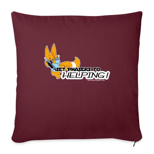 Set Phasers to Helping - Sofa pillowcase 17,3'' x 17,3'' (45 x 45 cm)