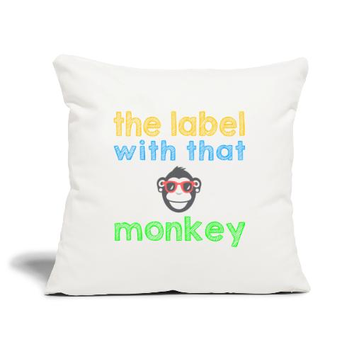 the label with that monkey - Sofakissenbezug 44 x 44 cm