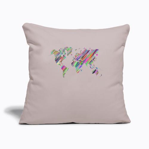 world colorful - Sofa pillowcase 17,3'' x 17,3'' (45 x 45 cm)