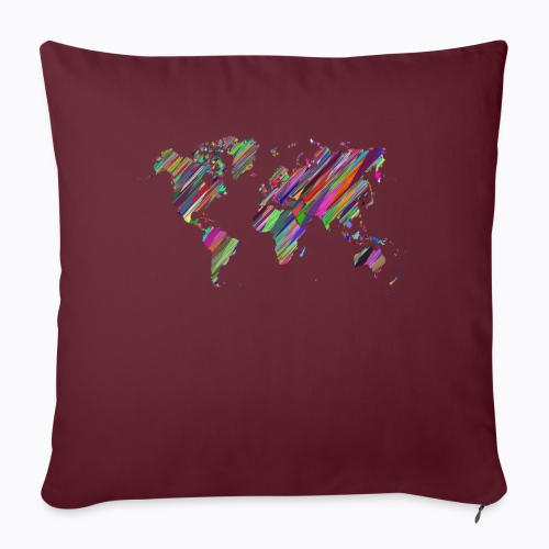 world colorful - Sofa pillowcase 17,3'' x 17,3'' (45 x 45 cm)