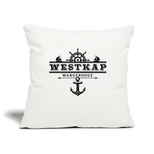 Westkap Wangerooge Logo - Sofakissenbezug 44 x 44 cm