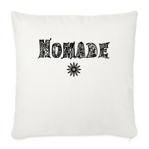 Nomade (en noir) - Housse de coussin décorative 45x 45cm