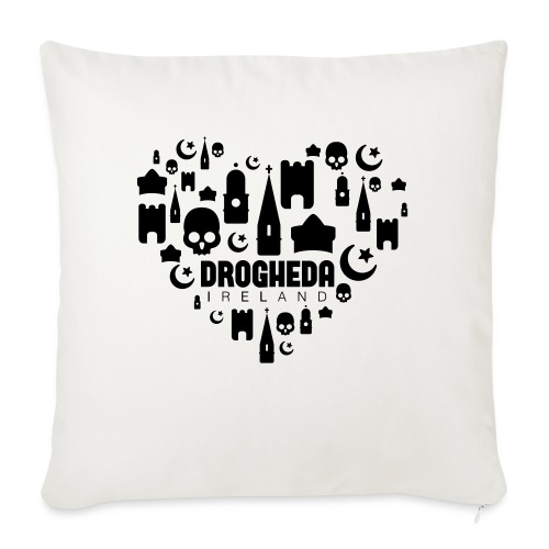 Drogheda Black - Sofa pillowcase 17,3'' x 17,3'' (45 x 45 cm)